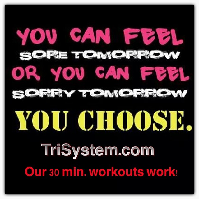 You choose?  Which one will you be tomorrow? #trisystem #motivation #workout <a href=