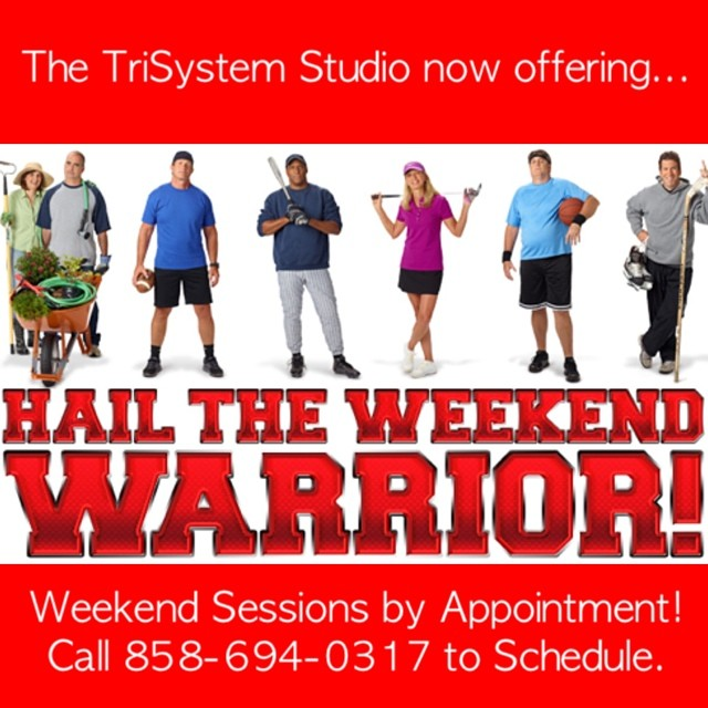 Hurry and schedule your time.  Limited hours available for our most motivated weekend warriors!  Available TriSystem pros: Terra, Sam and Kathy.  We need to fill these sessions in order to staff the weekend hours.  Call or email: jeff@trisystem.com #trisystem <a href=