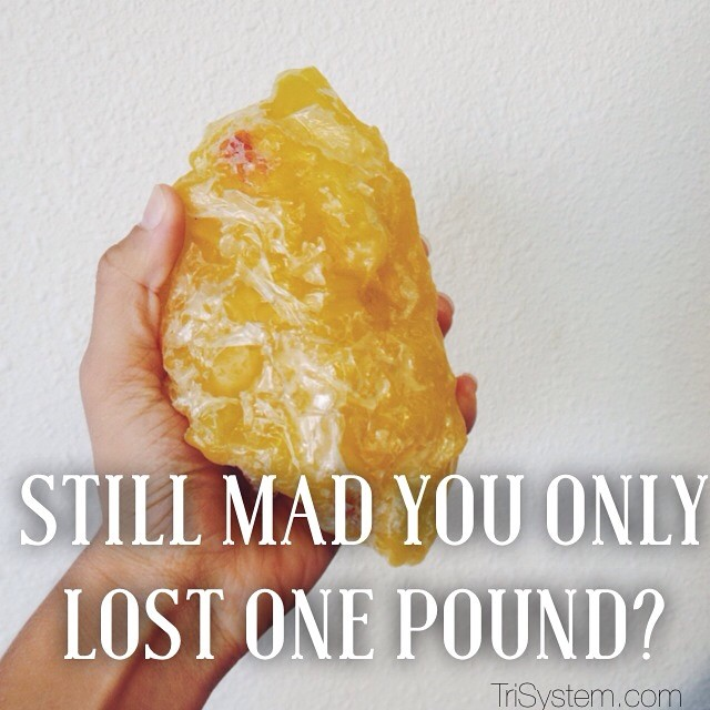 Each pound you loose is a huge accomplishment! Never sell yourself short for only loosing one or two pounds. Each step closer to your goal, big or small, is worth celebrating! #trisystem