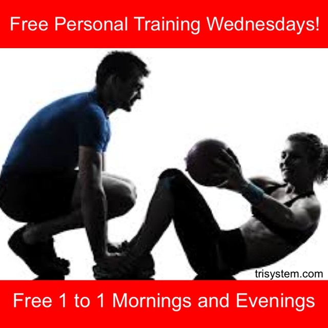 Quality personal training sessions available for a limited time on Wednesdays.  Reserve your time now!