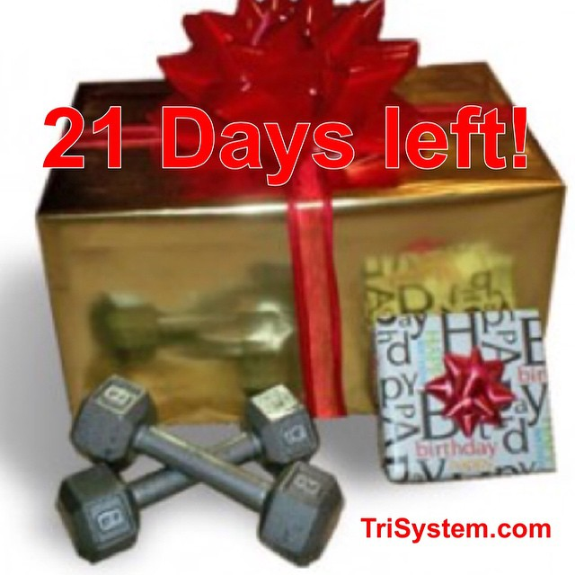 Only 21 days left to get the best deal of the year on personal training and nutrition sessions.  Give it as a gift or use them yourself! Click to learn more!