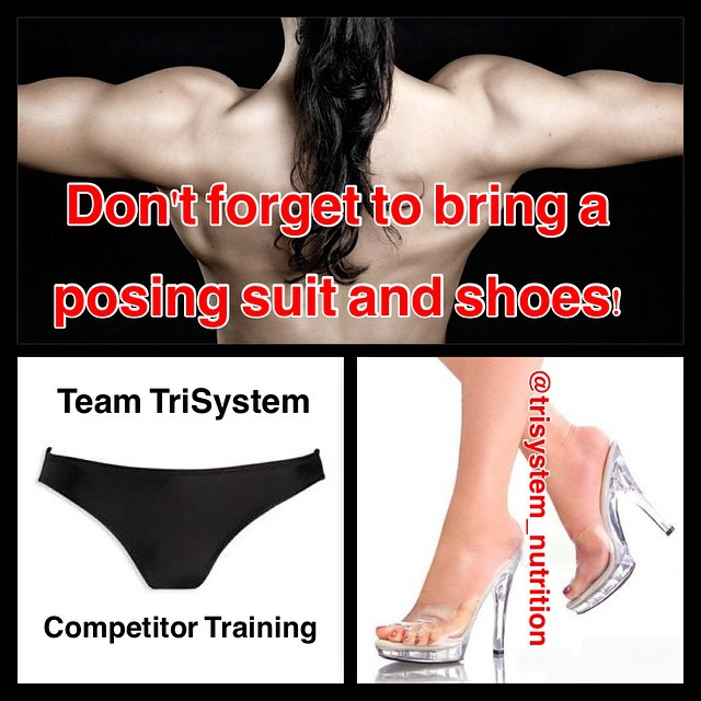 Don't forget: Posing class for all competitors Sponsored by Team TriSystem, tomorrow,  Saturday, June 6th, 1 pm at the TriSystem Center. $15.  Taught by Pros.  Remember to bring posing suits and shoes.