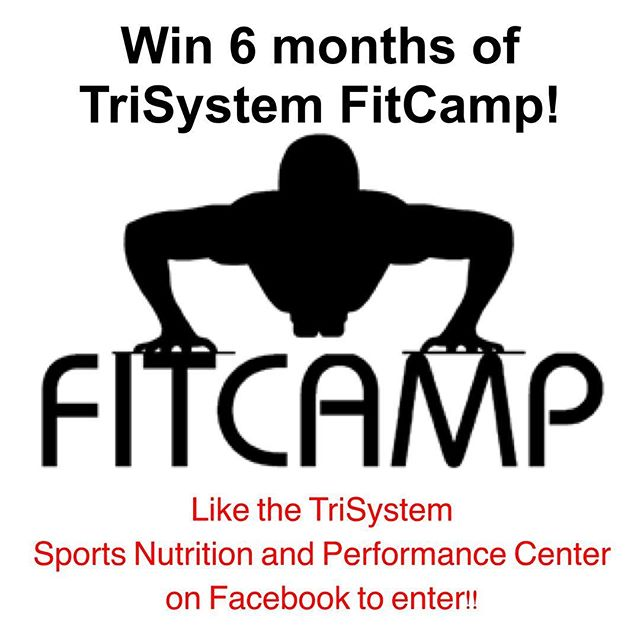 How to win over $1314 in TriSystem FitCamp! Sessions:  Like The TriSystem Sports Nutrition and Performance Center on Facebook.  If you don't have Facebook,  go to www.trisystem.info/offers and register there.  Do both and double your chances!  Ask your friends to do it and become part of our referral program.  ALL referrals that become members get rewarded with free sessions and/or TriSystem Dollars!