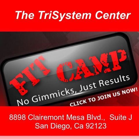 Time for TriSystem FitCamp!  If you want the best way to jump-start your body into summer,  join me for our daily group workouts at 9:30 am and 6:30 pm weekdays and 10 am on Saturday.  30 minute adaptive metabolism building routines that are different everyday.  It all starts Monday March 21st and goes through Memorial Day.  THE FIRST WEEK IS FREE!!! And... It's at our BRAND NEW CENTER!!! Message me if your coming,  it's limited to 24 spots.